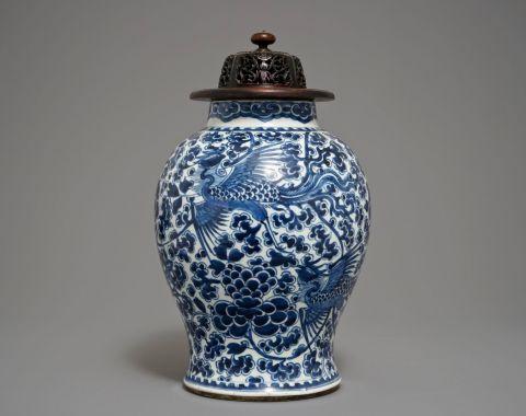 antiek picart Investeren in Chinees Export of Chinese Taste porselein Kangxi blauwe vaas